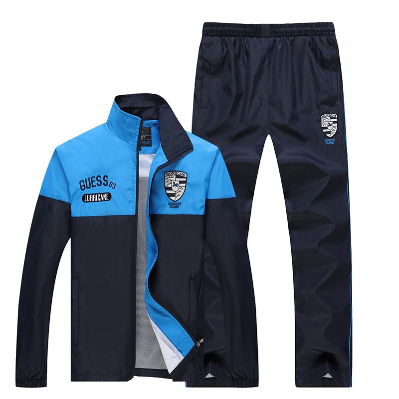 New Arrival Marka Dres Casual Sporta Kostiumu Mężczyźni Mody Bluzy Zestaw Kurtka + Spodnie 2 SZTUK Poliester Sportowej Mężczyzn 4XL 5XL SP019 6