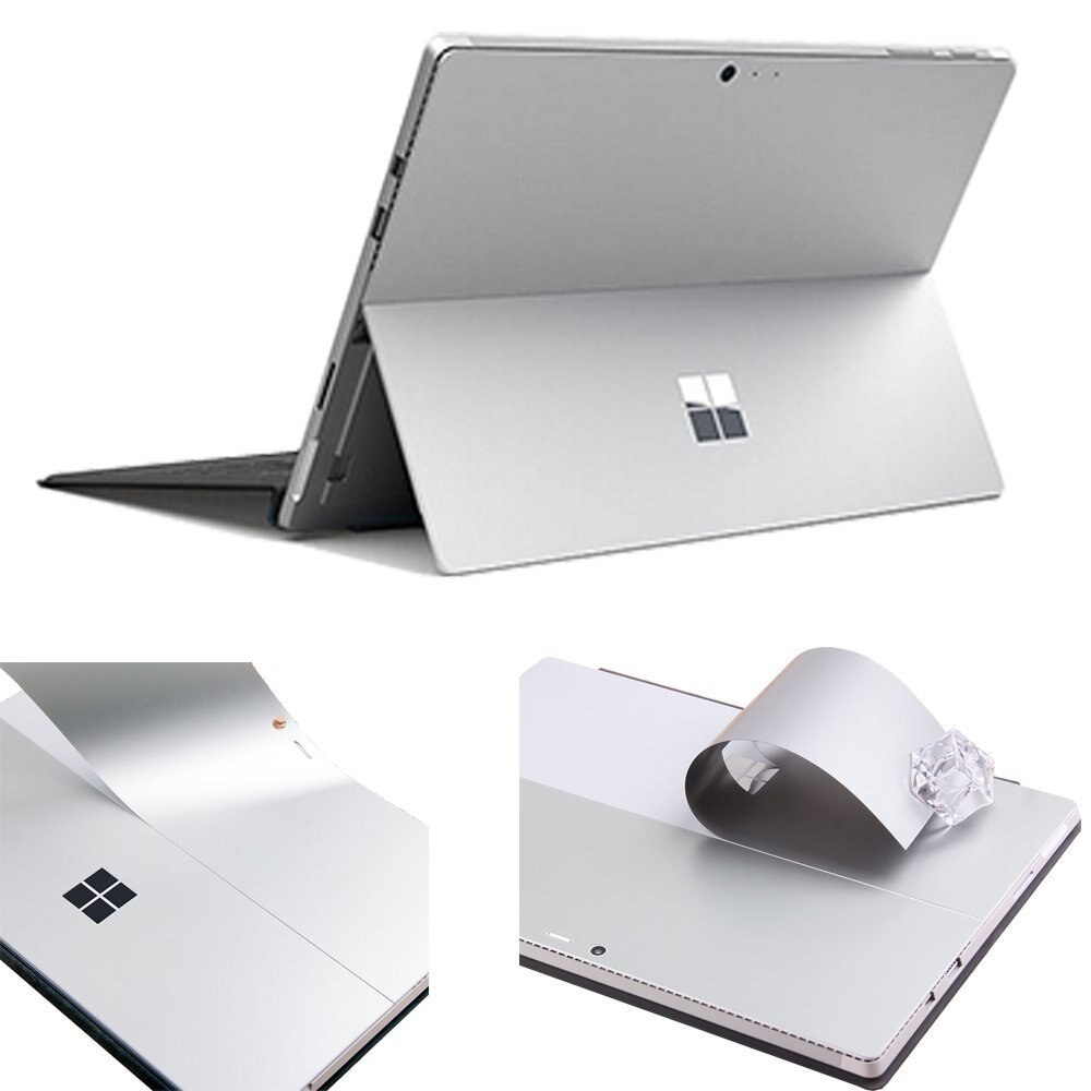 XSKN для Microsoft Surface Pro 6 (2018 +) Surface Pro 5, Surface Pro 4, 12,3 дюйма, ультратонкая, чистая, серебристая, задняя наклейка, защита кожи