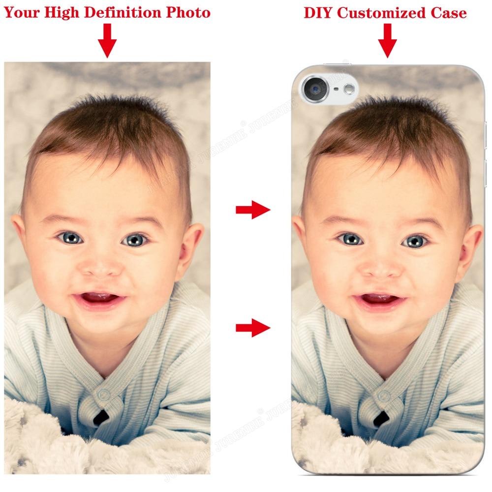 Diy personalizado foto caso de telefone personalizado para ipod touch 7 6 5 tpu silicone macio volta capa protetora personalizar imagem casos