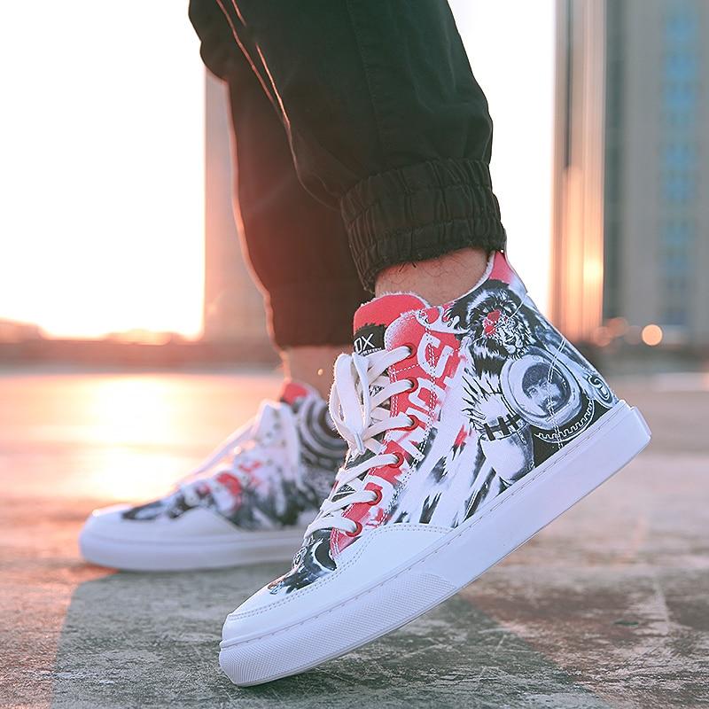 IDX León Reino cómoda moda graffiti calle original oldescuela trabajo Zapatos mujer