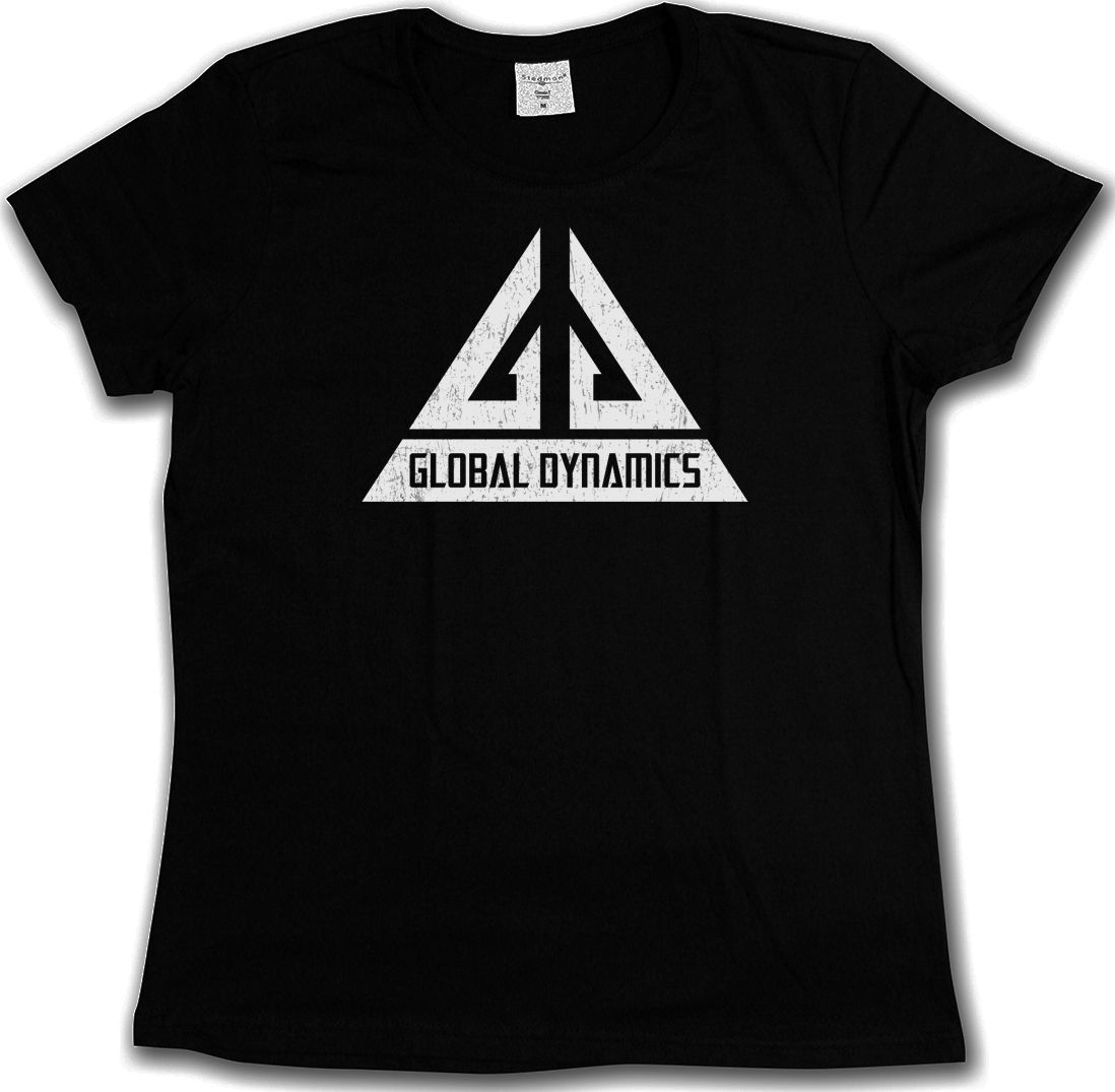 GLOBAL DYNAMICS logotipo de GD camiseta-Jack Carter TV Serie camiseta Eureka