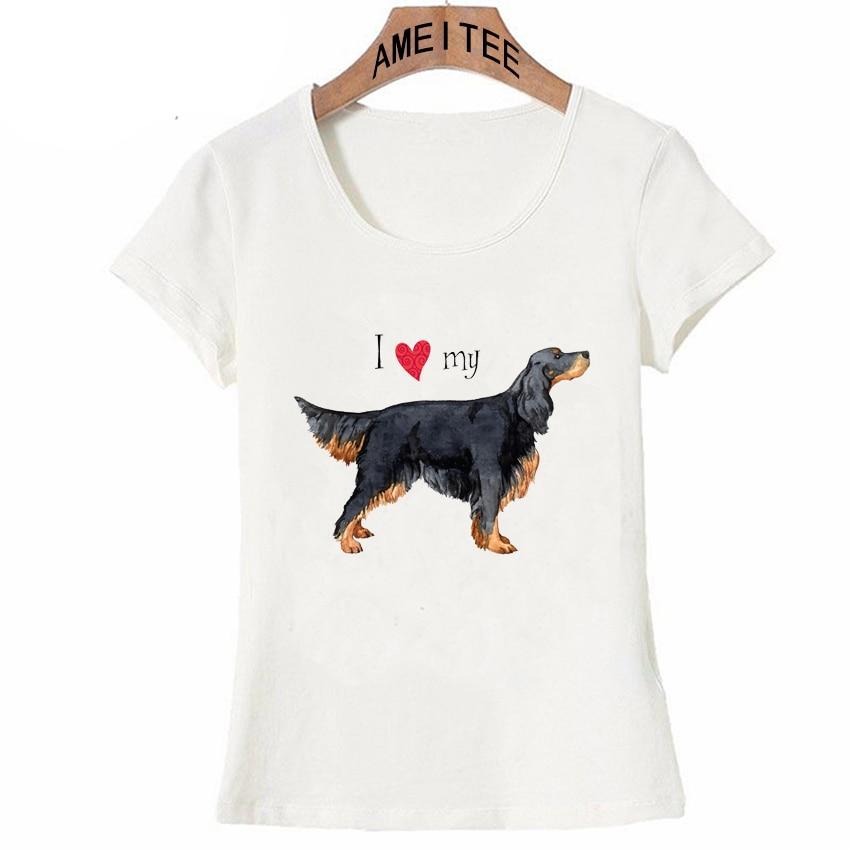 Летние Новые Модные женские футболки с принтом I Love my Friend Gordon Setter, футболки с забавным дизайном собаки, повседневные топы для женщин
