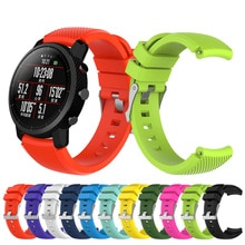 22mm Soft Silicagel Sports Watch Band Strap For Huami Amazfit Stratos Smart Watch for Amazfit Pace S