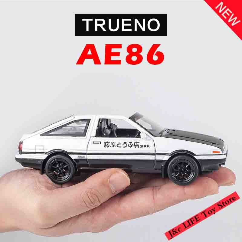 1:28 Toy Car INITIAL D AE86 Metal Toy Alloy Car Diecasts & Toy Vehicles Car Model Miniature Scale Mo