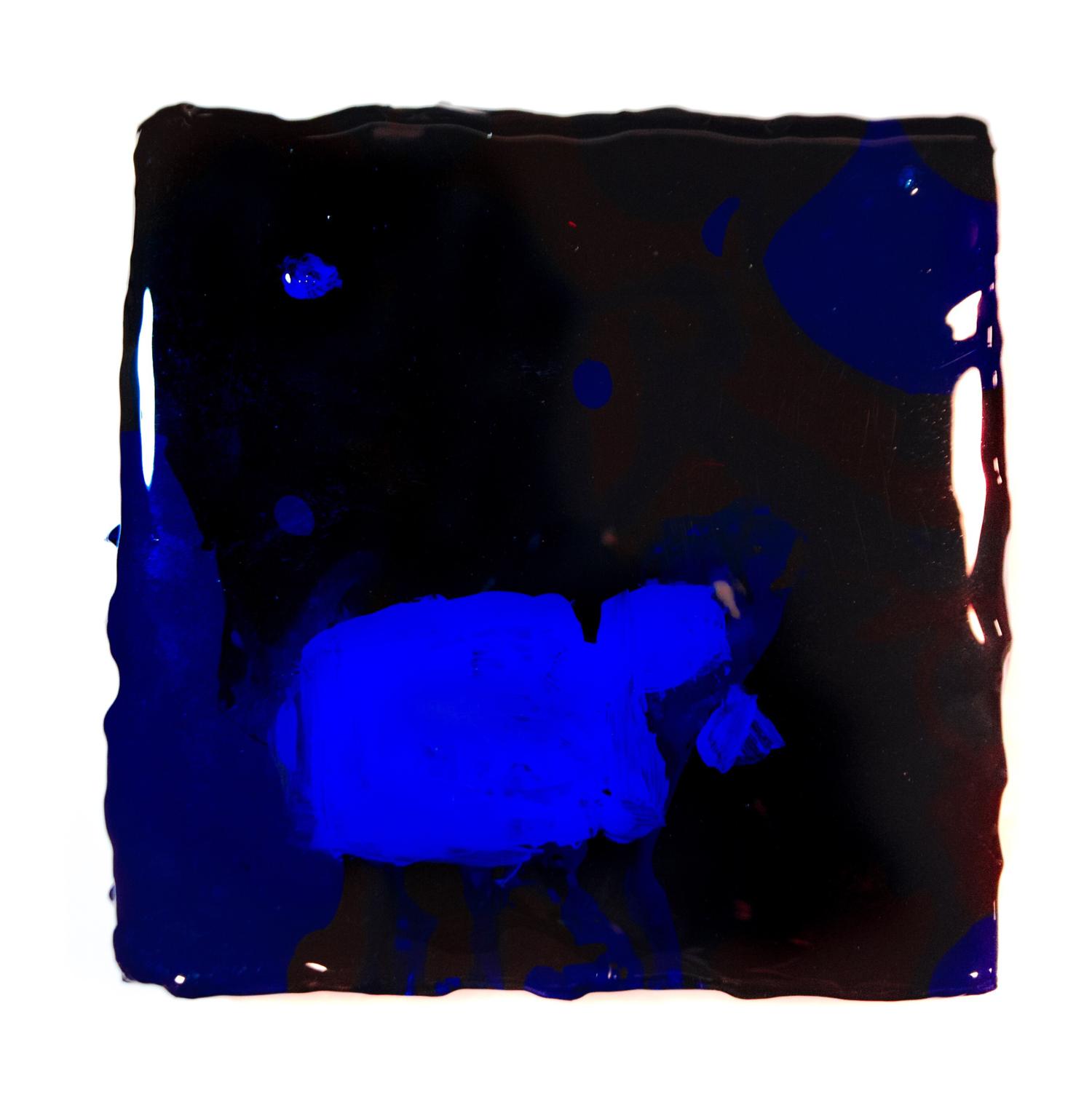 """La obra del artista chino y estadounidense Yang Wan """"717 pm"""" pintura acrílica 20*20cm cuadros de pared de arte resina abstracta libre de ácido"""