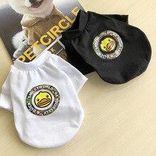 2019 di Modo di T-Shirt di Estate del Cucciolo Del Gatto Del Cane Cani Vestiti Del Fumetto Della Maglia Per Il Piccolo Cane di Animale Domestico del Cucciolo Shirt Abbigliamento Cani Panno XS-XL