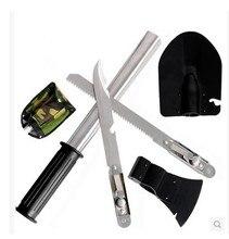 Outdoor shovel folding multifunctional four in one spade shovel axe sapper saber saw outdoor military shovel