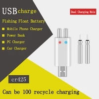 1setslot brand new fishing floats rechargeable cr425 battery match usb to use suit for different charger devices b231
