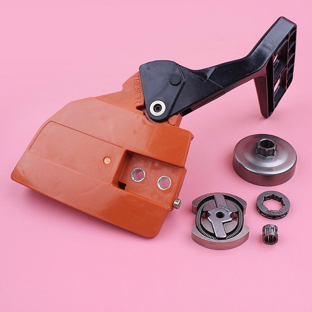 Empuñadura freno embrague cadena cubierta piñón llanta tambor para Husqvarna 136 137 141 142 motosierra repuesto herramienta parte