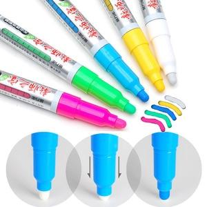 Genvana Colored Liquid chalk pen for Blackboard Glass, Windows, Refillable erasing Chalkboard Whiteboard Marker Writing