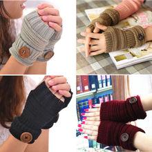 Mitaines Chic femmes   Hiver, poignet, chauffe-main, gants tricotés sans doigts longs
