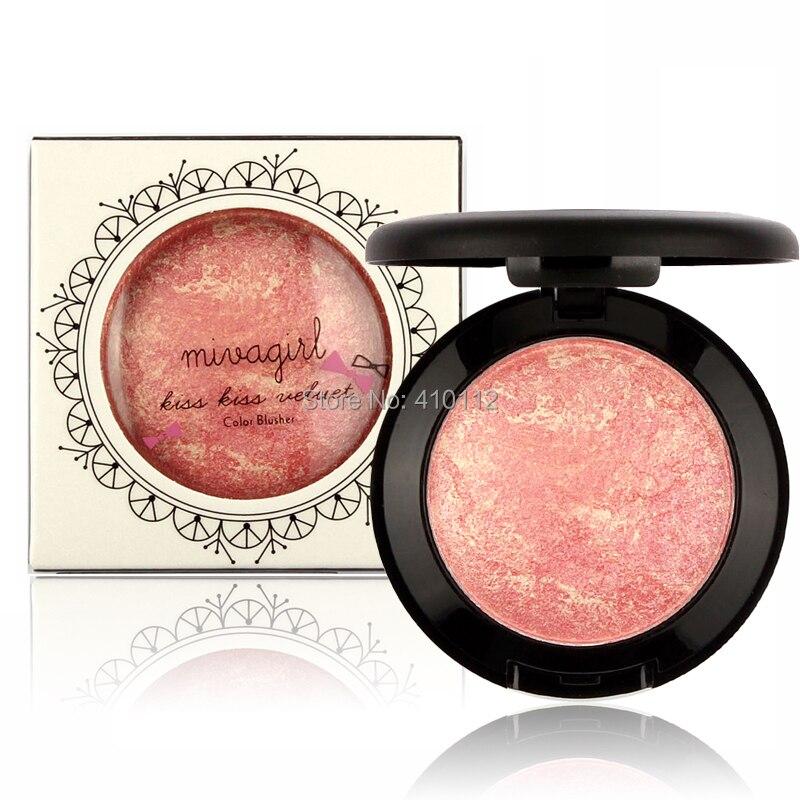 Mivagirl blush assado blush cor, paleta de blush para bochecha, blush para maquiagem, frete grátis