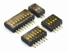 5 pcs x SMD SMT Tipo de Slide Switch 1 p p p p p 6 5 4 3 2 p 8 p 10 p 1.27mm Posição Way Pitch DIP Preto Toggle Switch Interruptor de Pressão Preto
