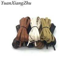 1 Pair Cotton cord flat shape shoelaces unisex high top casual leather boot shoe laces fashion brand