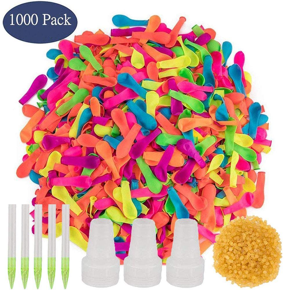 Balões de água com recarga rápido fácil kit látex bomba de água balões jogos de luta para crianças adultos