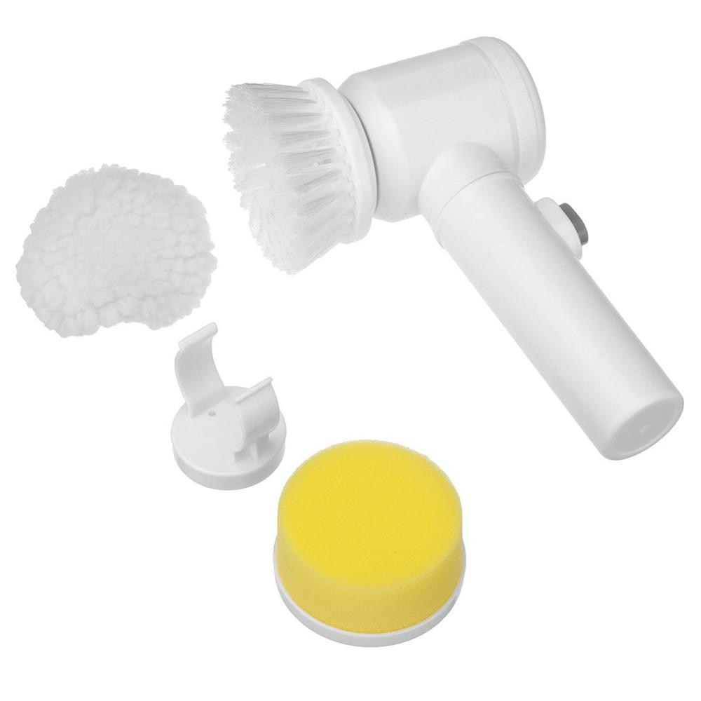 Material Abs + nailon para el hogar, tres modos de batería de cuatro celdas, diseño exquisito, cepillo de limpieza eléctrico para bañera 5 en 1