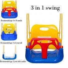 Nouveau 3 en 1 couleur enfants balançoire jouets dextérieur bébé balançoire jouets