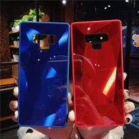 bling geometric diamond pattern candy jelly rhombus shell case cover for samsung galaxy note 9 8 s98 j46 a68 plus s7 edge