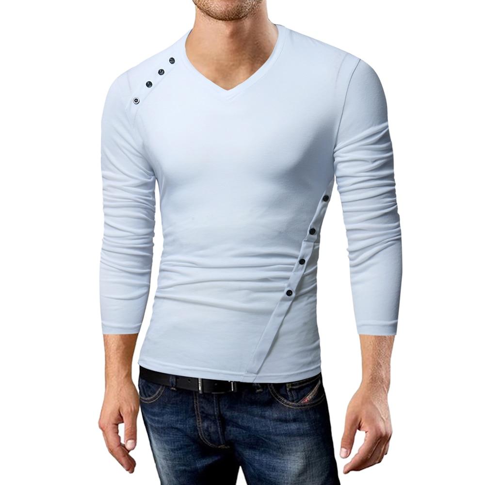 Phertiful gran oferta 2017 nueva marca de moda irregular ajustado Fit Camiseta de manga larga hombres tendencia Causal hombre Camiseta algodón camisetas 5XL