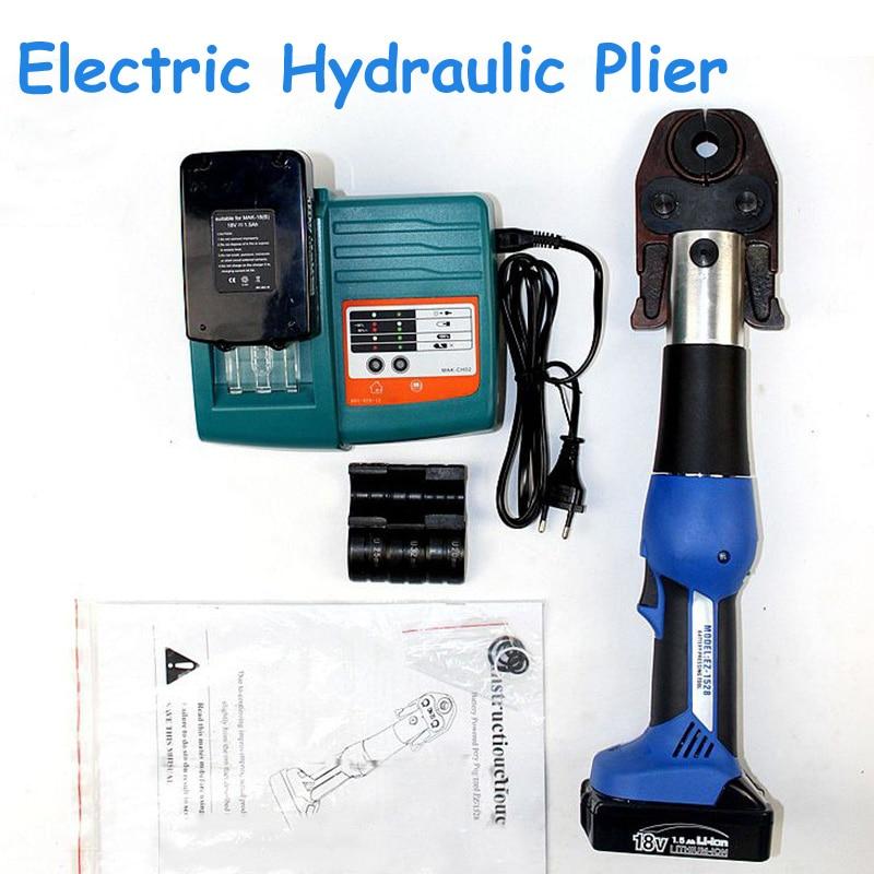 قابلة للشحن الكهربائية ذو طيات الهيدروليكية ضغط الأنابيب وجع بطارية PEX الأنابيب الهيدروليكية العقص أداة ل النحاس EZ-1528