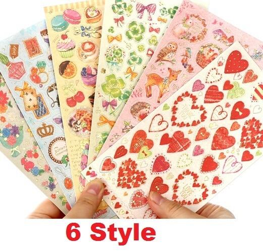 1 unids/lote Zakka, nuevo estilo dorado, Serie de amor romántico, pegatina de papel para decoración DIY, suministros escolares de oficina