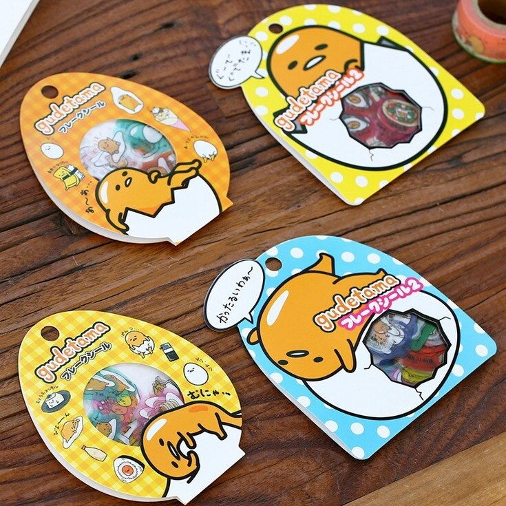 20packs/lot Japan Mr Faul Ei serie DIY multifunktionale transparent DECO sticker pack Nette tagebuch label büro schule liefert