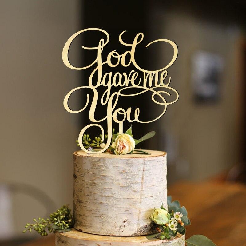 Bóg dał mi, że rocznica ciasto Topper, ślub dla przyszłej panny młodej ciasto Topper, zaangażowanie boga ciasto Topper dekoracji