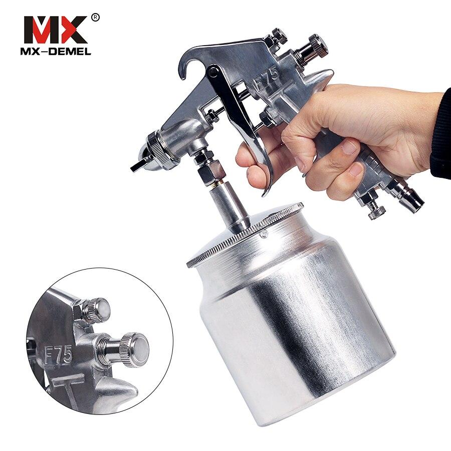 MX-DEMEL, 400 ML, PISTOLA DE PULVERIZACIÓN neumática profesional, Mini aerógrafo, pulverizador, pintura de aleación, atomizador, herramientas con tolva para pintar