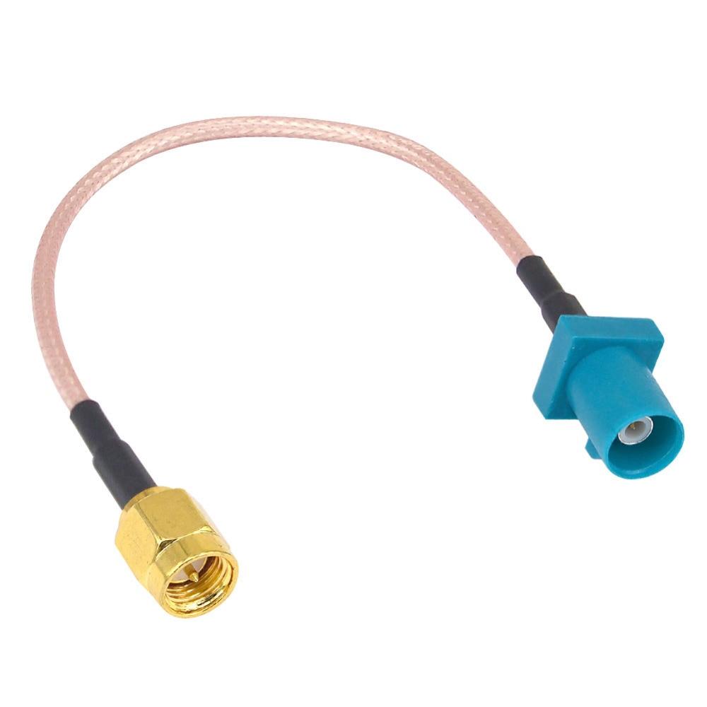 Fakra z adaptador plug para sma macho antena gps fakra cabo de extensão rg316 rg174 15 cm trança para vw para assento para benz para ford