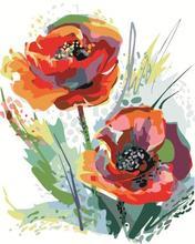 Peinture numérique sans cadre   Bricolage, peinture peinte à la main, décoration numérique, peinture à lhuile moderne, fleur de pavot pour salon
