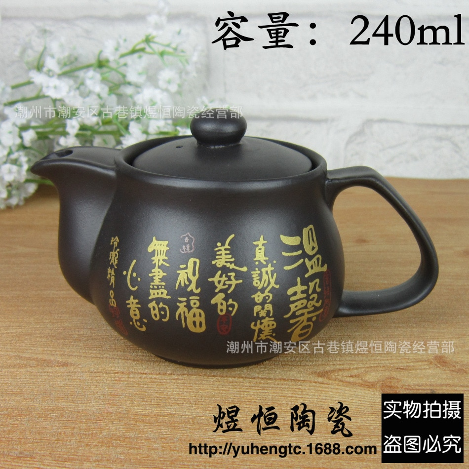 Bule de Minério Bule de Chá Pintado à Mão Conjunto de Chá Yixing Puer Artesanal er Chá