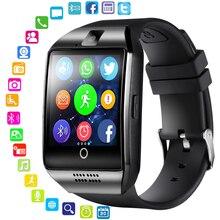 LEMFO reloj inteligente Bluetooth para hombre Q18 con pantalla táctil Batería grande compatible con tarjeta Sim TF cámara para teléfono Android Smartwatch