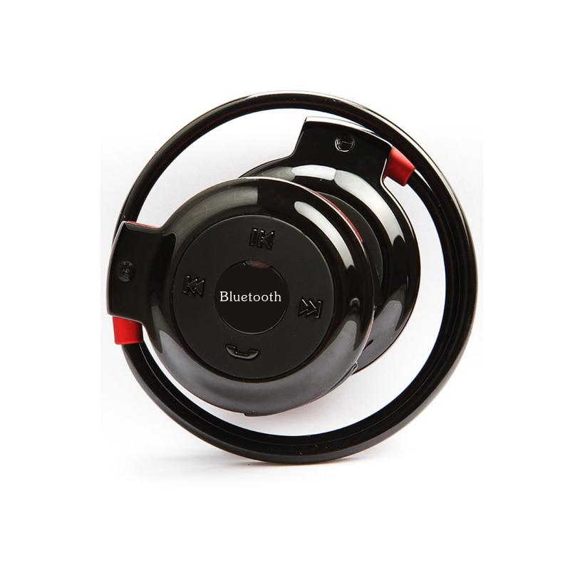 MINI503 Bluetooth Earphones Stereo Foldable Sport Headphones TF card earphone FM Wireless With Mic For phone