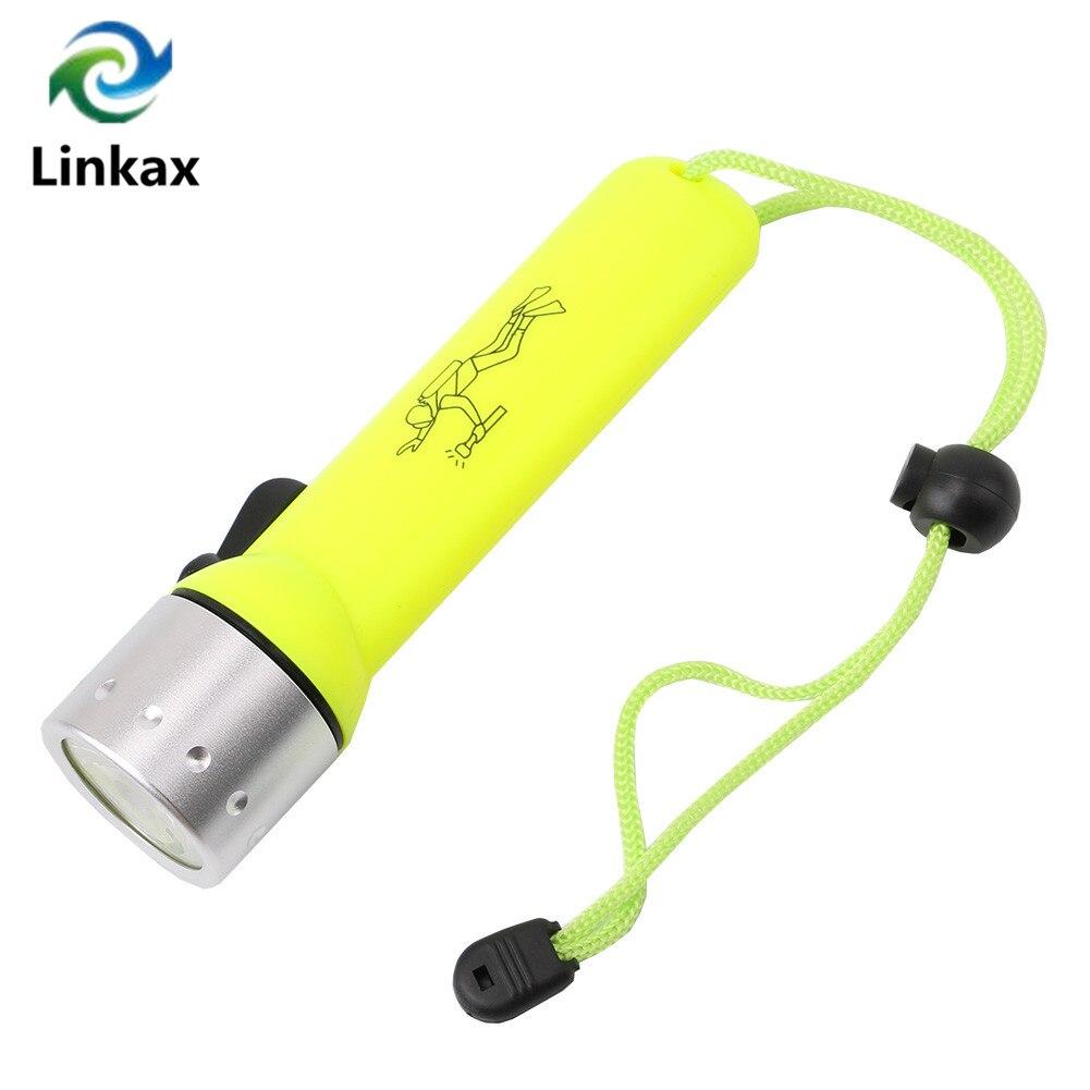 Светодиодный фонарик для дайвинга, подводный свет Q5, светодиодный водонепроницаемый фонарик для дайвинга, 1200 лм от 4xAA на батарейках