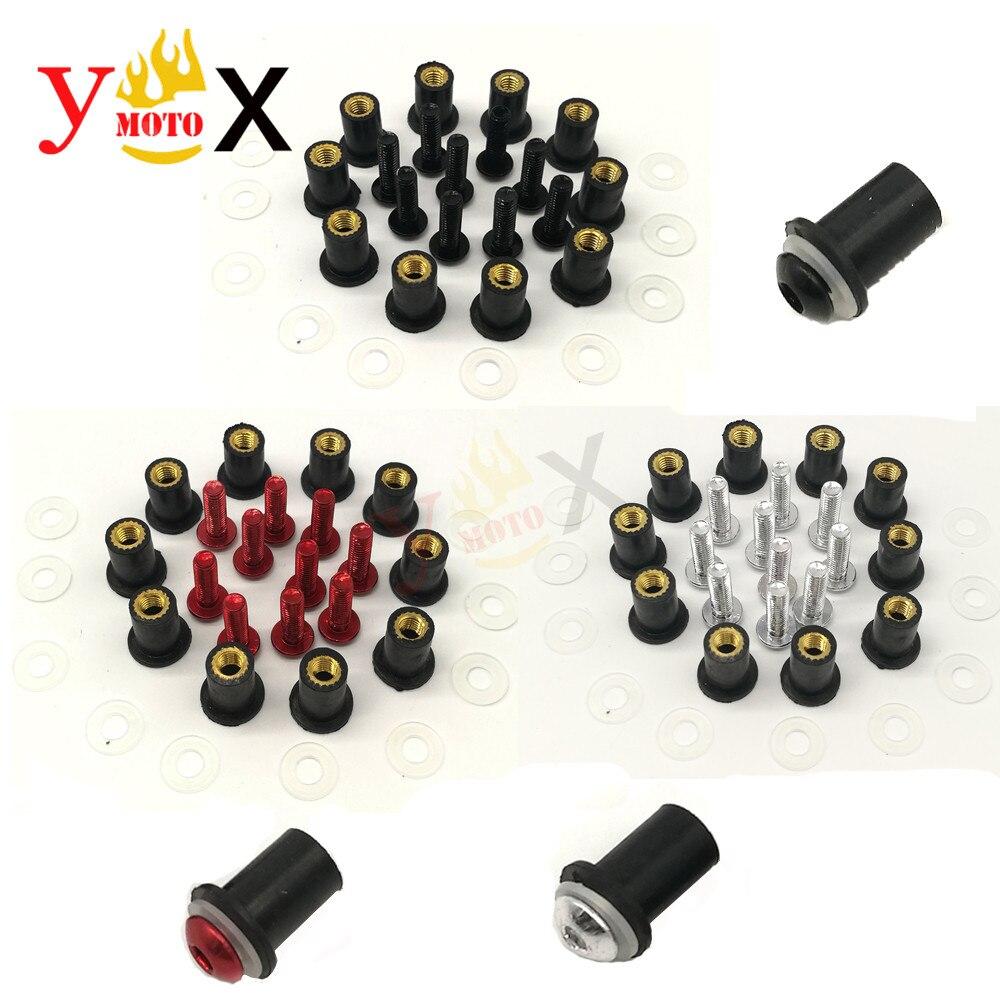 Винты для ветрового стекла M5, 10 шт., болты, болты для ветрового стекла, комплекты винтов для Кавасаки, ниндзи, 650R, ER-5F, ZX10R, ZX6R, ZX636, ZX600R, 7R