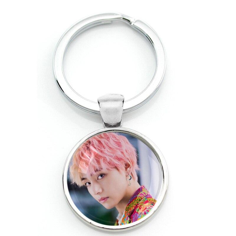 Горячие армейские бомбы ключи цепочки Ключи Кольца держатель Kpop BT21 ювелирные изделия K-pop Мальчики Аксессуары для фанатов альбом Love Yourself