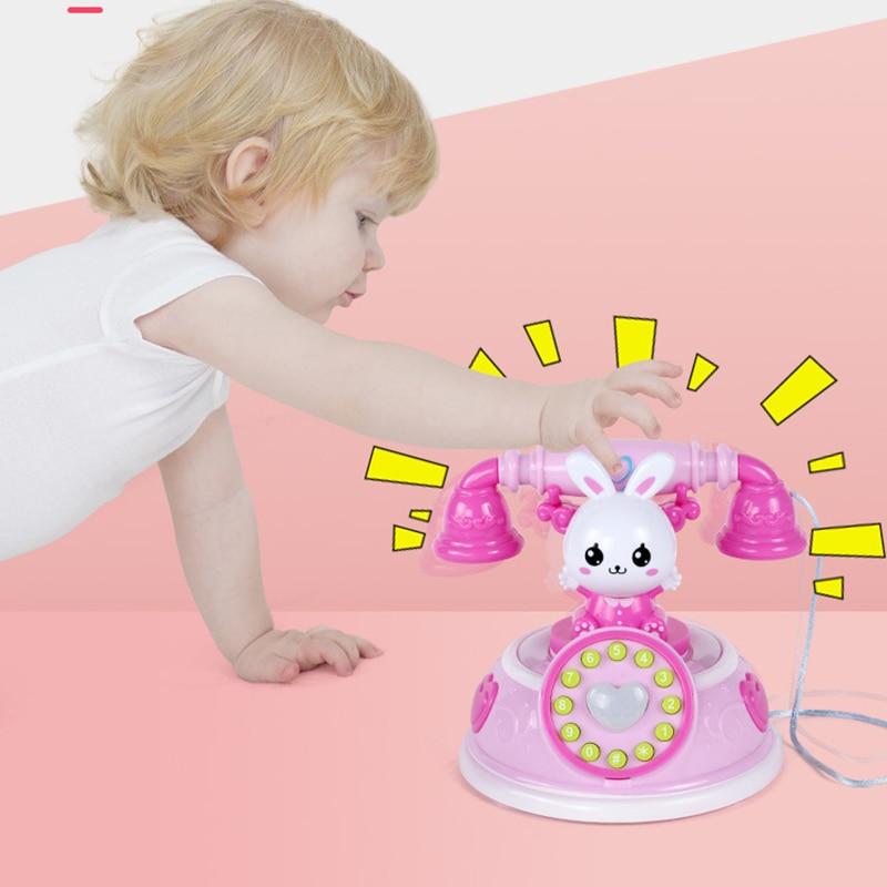 1 шт. моделирование телефонная игрушка ролевые игры с музыкальным светильник раннего образования для детей NSV775