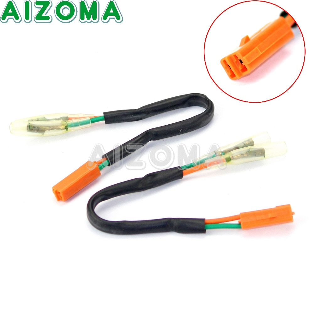 Ligue o adaptador de sinal 2 pces para honda 99-03 cbr 600 900 929 954rr f4 vtr 1000f rc51 motocicleta conector chicote indicador