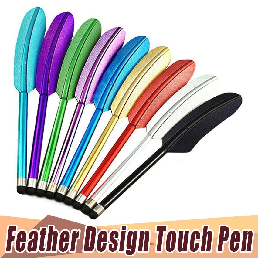 الكلاسيكية quill القلم ريشة بالسعة شاشة tuch القلم القلم آيفون 7 6 جديد باد سامسونج غالاكسي هواوي htc 300 قطعة/الوحدة