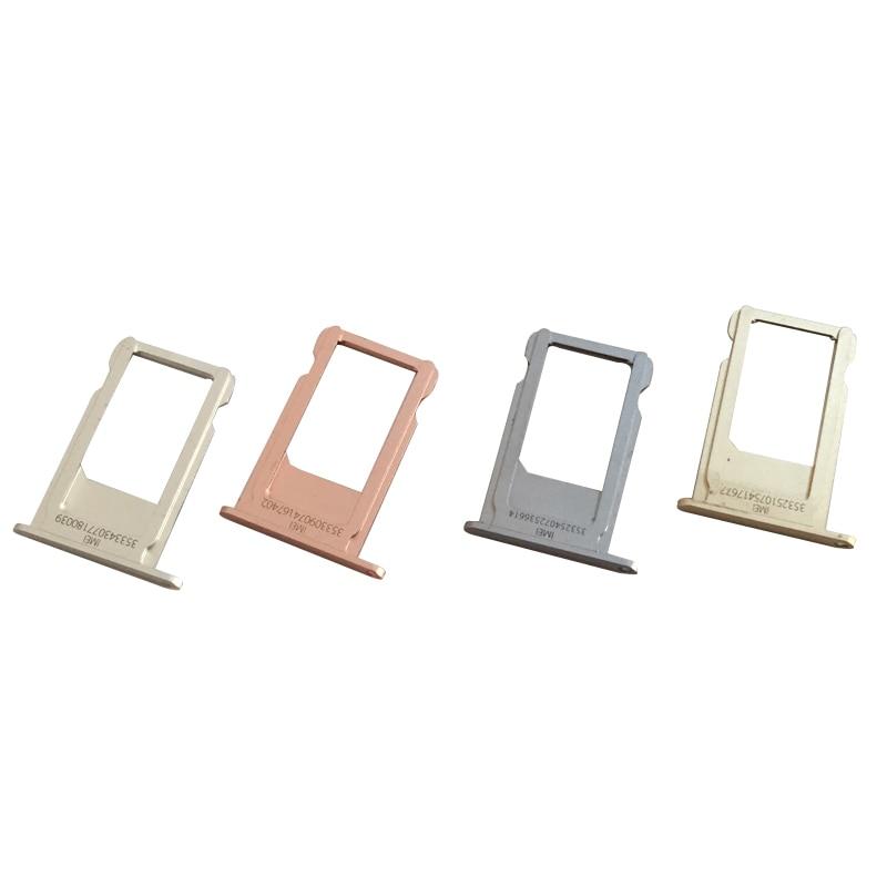 Bandeja de ranura para tarjeta Nano Sim Original para Iphone 6S, lector de tarjetas Sim, Conector de ranura, adaptadores de tarjetas Sim
