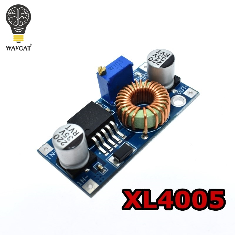 WAVGAT XL4005 DSN5000 Beyond LM2596 DC-DC adjustable step-down 5A 75W power Supply module Large curr