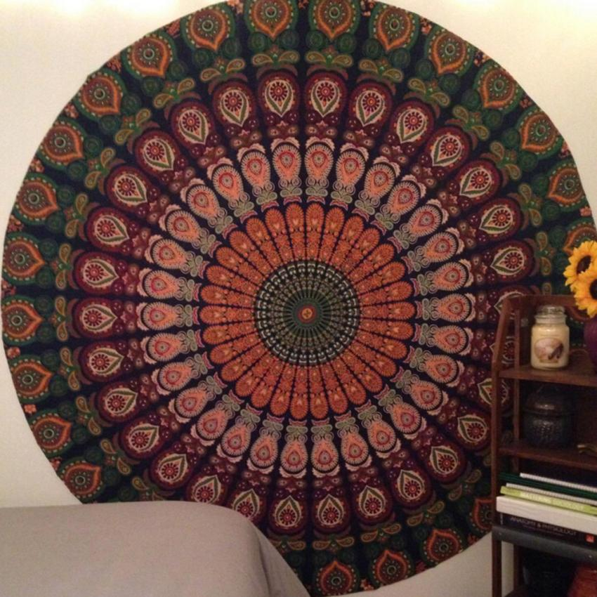 Nueva toalla redonda de moda para la piscina y la ducha del hogar manta mantel estera de Yoga 0716