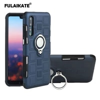 fulaikate ice cubes ring case for huawei p20 anti knock stand back cover business soft phone protective cases