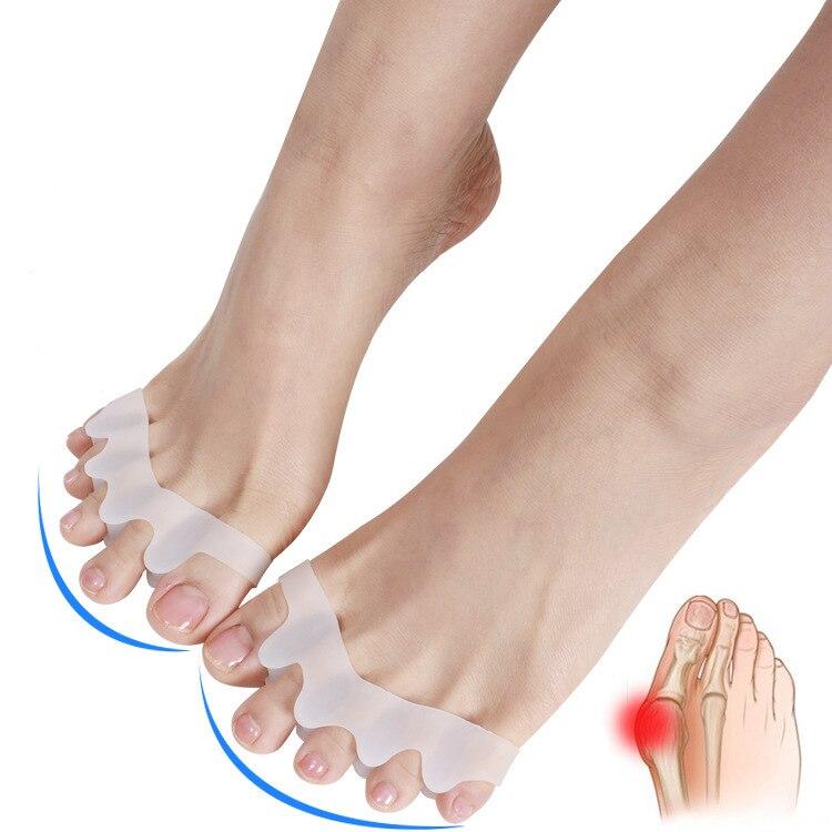 Silicone Toe Corrector Gel Bunion Protector Toe Separators Straightener Spreader Correctors Valgus Correction 1 Pair Foot Care