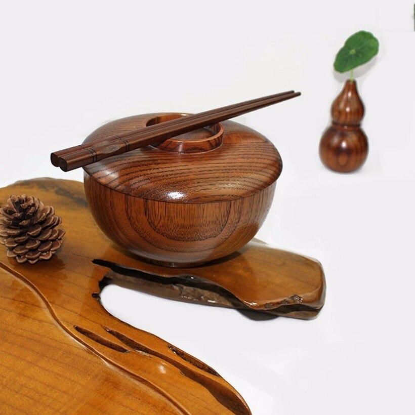 1 шт., натуральная деревянная чаша jujube для домашнего супа, рисовые миски для лапши, детский Ланч-бокс, кухонная посуда для кормления детей, контейнер для еды
