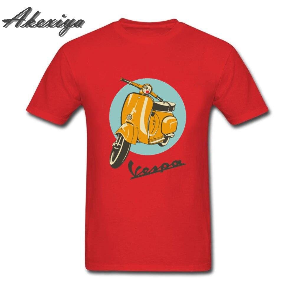 Verano Vintage Vespa camisetas hombres Vespa moto scooter camisetas hombre Piaggio camiseta estampado de moda camiseta hombre camiseta