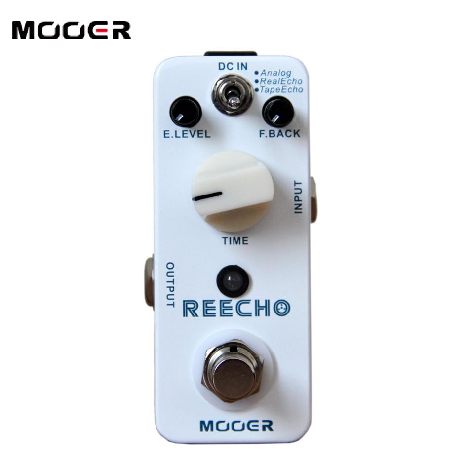 Free shipping!!!NEW Effect Guitar Pedal /MOOER REECHO Pedal,True bypass Full metal shell