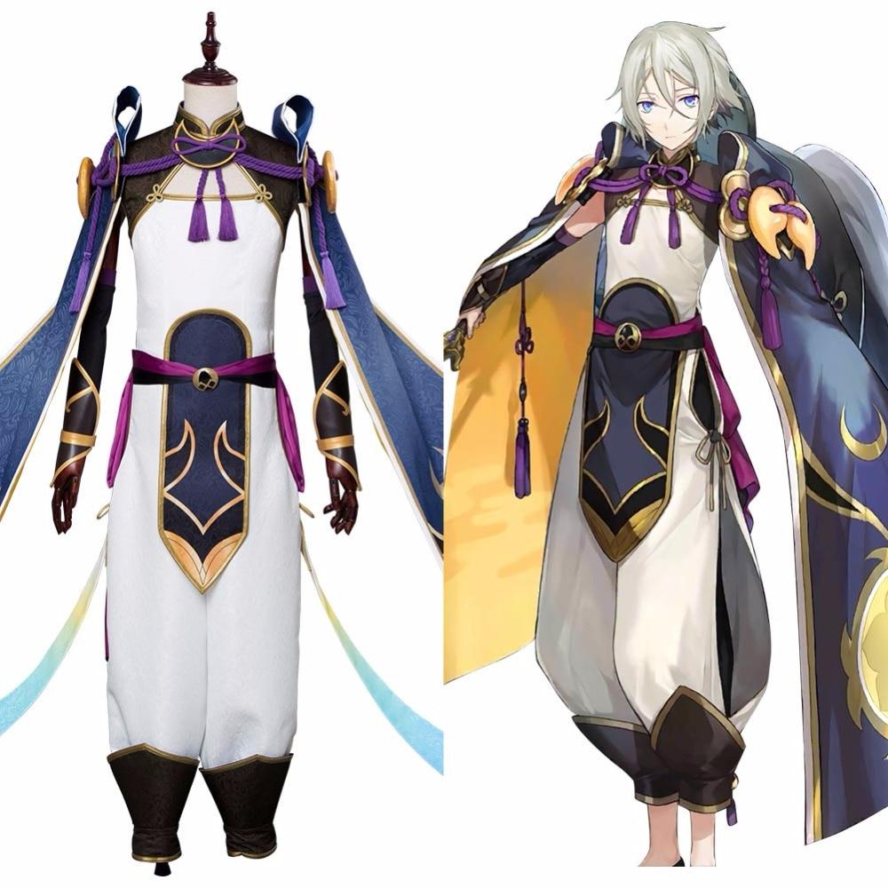 Fate grand order cosplay fgo príncipe lan lin traje anime fgo saber lan lin wang cosplay homem halloween carnaval traje costom