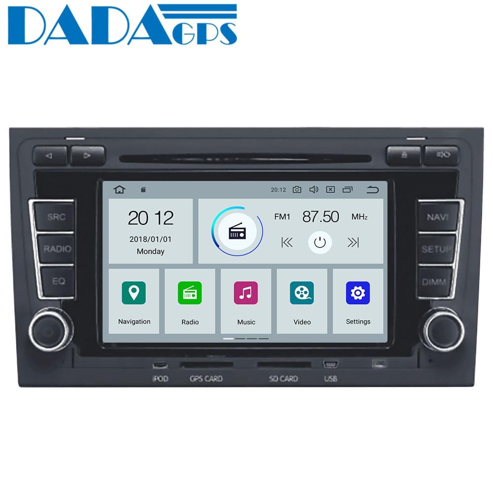Nuevo reproductor de DVD para coche Android 9,0 con Radio GPS para Audi A4 S4 RS4 2003-2012 Seat Exeo 2009 2010 2011 2012, Audio Multimedia ESTÉREO
