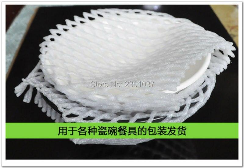 wholesale New 14cm*7cm 840pcs Fruit foam white EPE Foam mesh sleeve net Thick fruit foam sleeve net for Apple packing material